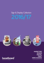 Boost Brand 2016 -17 Sign & Display Brochure