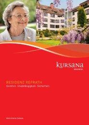 Kursana Residenz Refrath Lageplan Anfahrtsplan