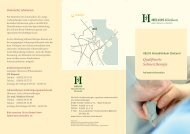 Qualifizierte Schmerztherapie - HELIOS Kliniken GmbH