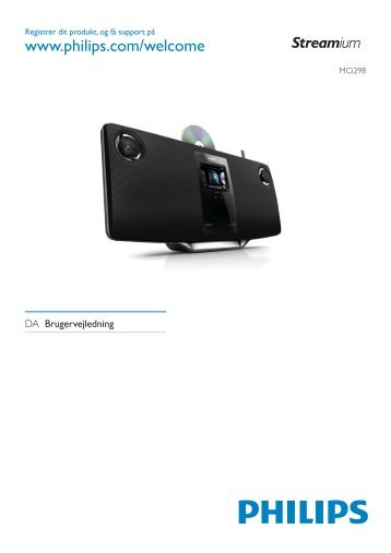 Philips Streamium Microchaîne hi-fi sans fil - Mode d'emploi - DAN