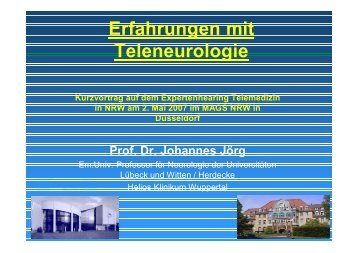 Erfahrungen mit Teleneurologie