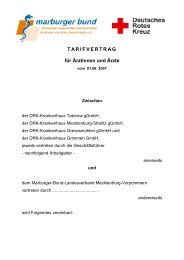 TARIFVERTRAG für Ärztinnen und Ärzte - Marburger Bund