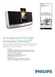 Philips Station d'accueil avec Bluetooth® - Fiche Produit - FRA
