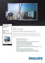 Philips 4000 series Smart TV Edge LED 3D - Fiche Produit - FRA