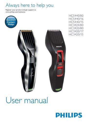Philips Hairclipper series 3000 Tondeuse à cheveux - Mode d'emploi - ZHS