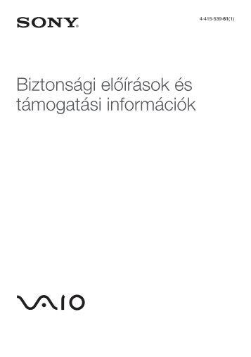 Sony VPCCB4P1E - VPCCB4P1E Documenti garanzia Ungherese