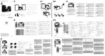 Philips Microchaîne - Guide de mise en route - FRA