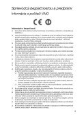 Sony VPCCB4P1E - VPCCB4P1E Documenti garanzia Slovacco - Page 5