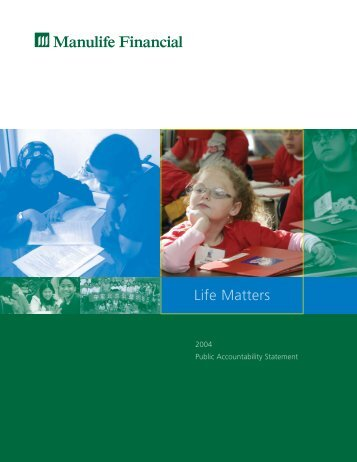2004 Public Accountability Statement - Manulife Financial