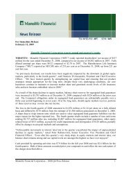 News Release - Manulife Financial