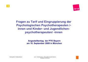 Fragen zu Tarif und Eingruppierung der ... - PTK Bayern