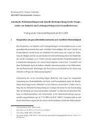 Juristische Problemstellungen und aktuelle Rechtsprechung bei der ...