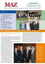 MAZ · Die Mitarbeiterzeitung der Klinikum Bayreuth GmbH