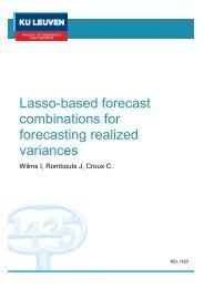 forecasting realized variances