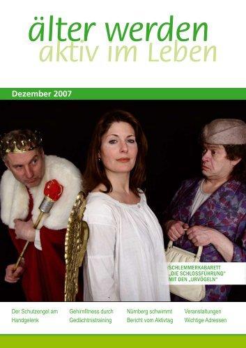 aktiv im Leben älter werden Dezember 2007 - älter werden online