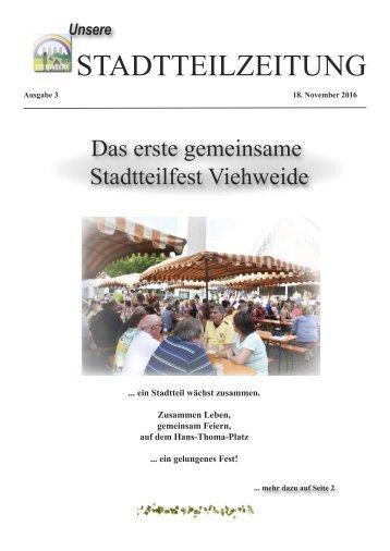 Stadtteilzeitung Viehweide. Ausgabe November