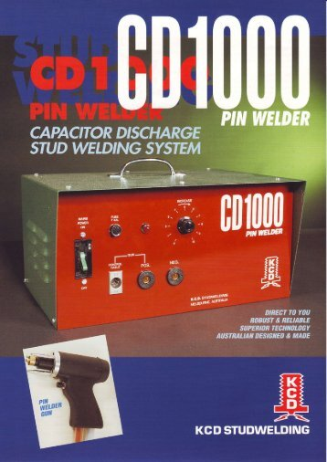 KCD CD1000 Pin Welder