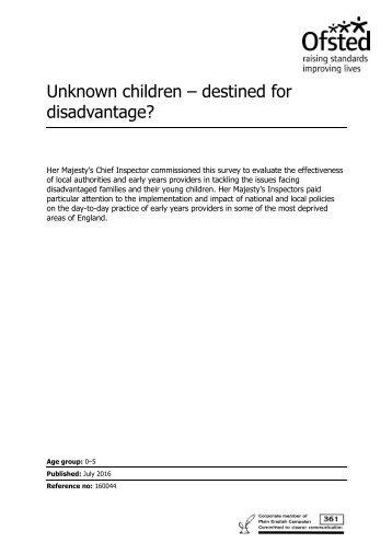 Unknown children – destined for disadvantage?