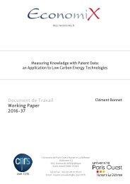Document de Travail Working Paper 2016-37