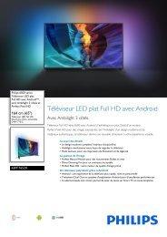 Philips 6500 series Téléviseur LED plat Full HD avec Android™ - Fiche Produit - FRA