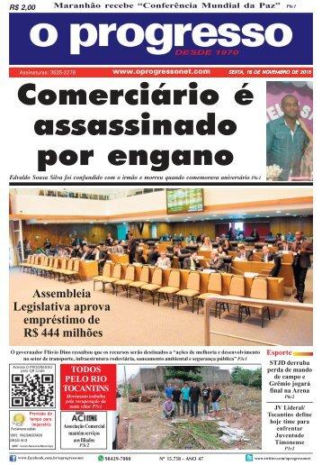 O Progresso, edição de 18 de novembro de 2016