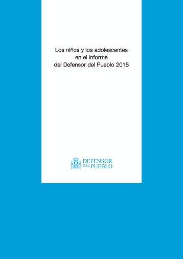 informe del Defensor del Pueblo 2015