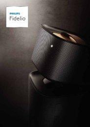 Philips Fidelio Home Cinéma avec enceintes arrière sans fil E5 - Brochure - DEU