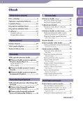 Sony NWZ-A846 - NWZ-A846 Istruzioni per l'uso Ceco - Page 3