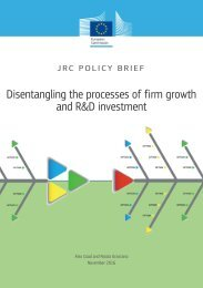 Disentangling the processes of firm growth and R&D investment