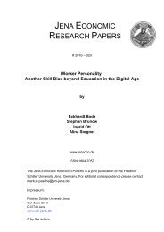 JENA ECONOMIC RESEARCH PAPERS