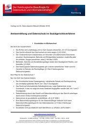 Amtsermittlung und Datenschutz im Sozialgerichtsverfahren
