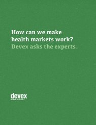 How can we make health markets work? Devex asks the experts