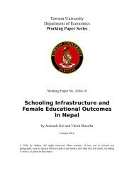 Schooling Infrastructure and Female Educational Outcomes in Nepal