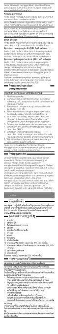 Philips SatinShave Advanced Rasoir électrique 100 % étanche - Mode d'emploi - THA - Page 7