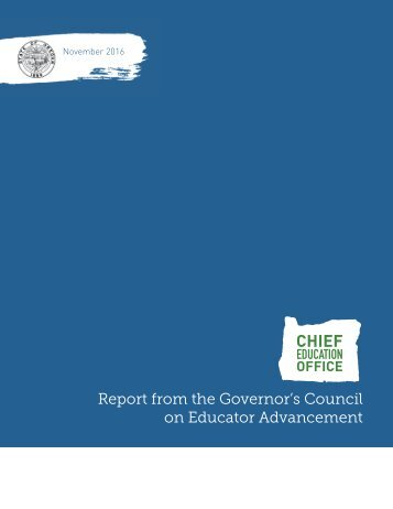 Report from the Governor's Council on Educator Advancement