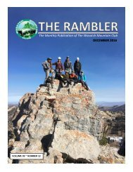 The Monthly Publication of The Wasatch Mountain Club DECEMBER 2016
