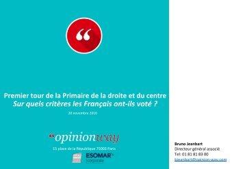 Sur quels critères les Français ont-ils voté ?