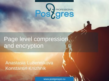 Page level compression and encryption