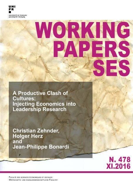 WORKING PAPERS SES