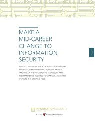MAKE A MID-CAREER CHANGE TO INFORMATION SECURITY