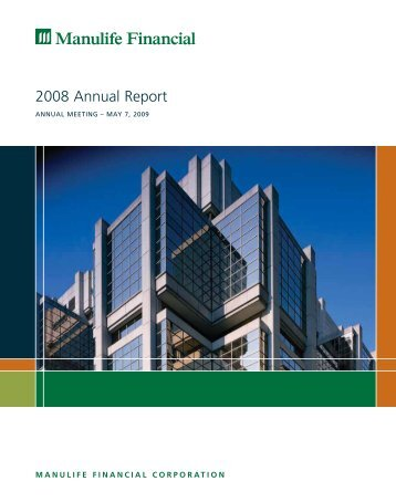 2008 Annual Report - Manulife Financial