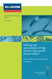 Tracking and specialization of high schools does school choice matter?