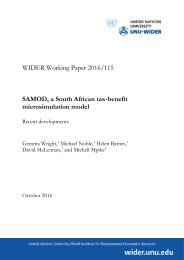 SAMOD a South African tax-benefit microsimulation model