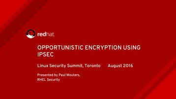 OPPORTUNISTIC ENCRYPTION USING IPSEC