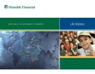 Real Value to Our Customers - Manulife Financial