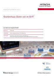 Krankenhaus-Daten voll im Griff - Hitachi Data Systems