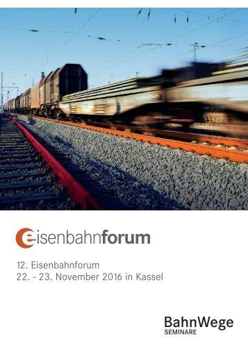 12 Eisenbahnforum 22 - 23 November 2016 in Kassel