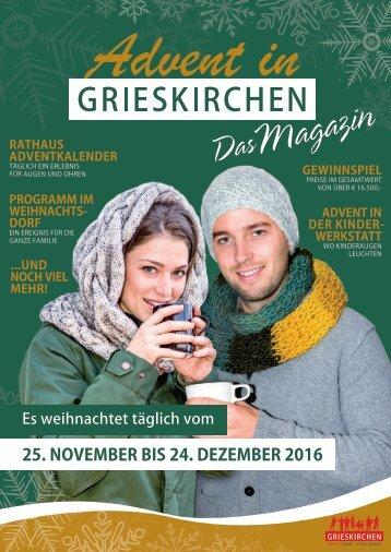 Advent in Grieskirchen Magazin 2016