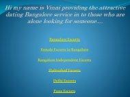 Best Escort Service in Bangalore, Hyderabad, Delhi & Pune