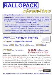 + MwSt. - RALLOPACK AG